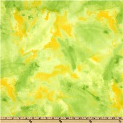 Stretch Polyester Jersey Tie Dye Yellow/Lime