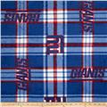 NFL Fleece New York Giants Plaid Blue/Red