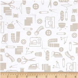 Small Talk Sewing Accessories Taupe