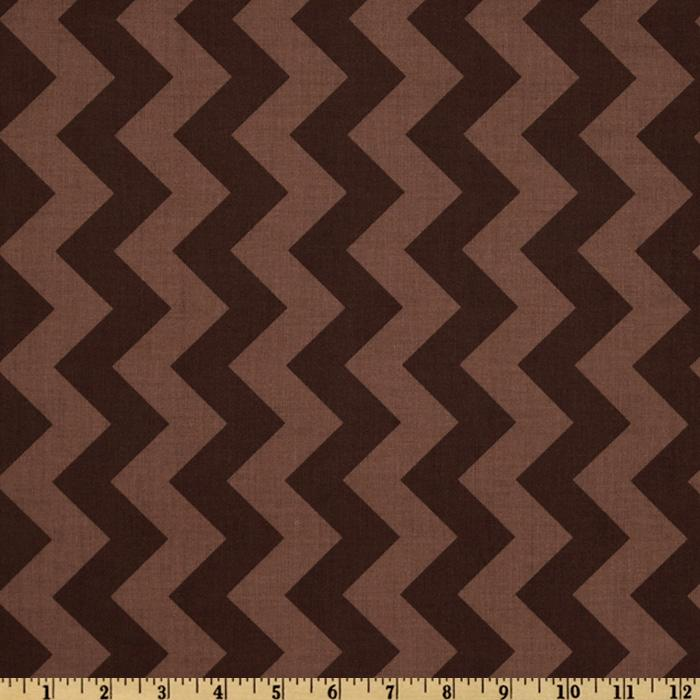 Riley Blake Chevron Medium Tonal Brown