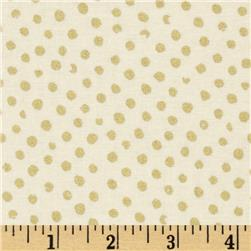 Confetti Sparkle Metallic Dots Cream