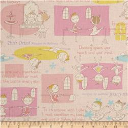 Kokka Trefle Margaret the Ballerina Patchwork Pink