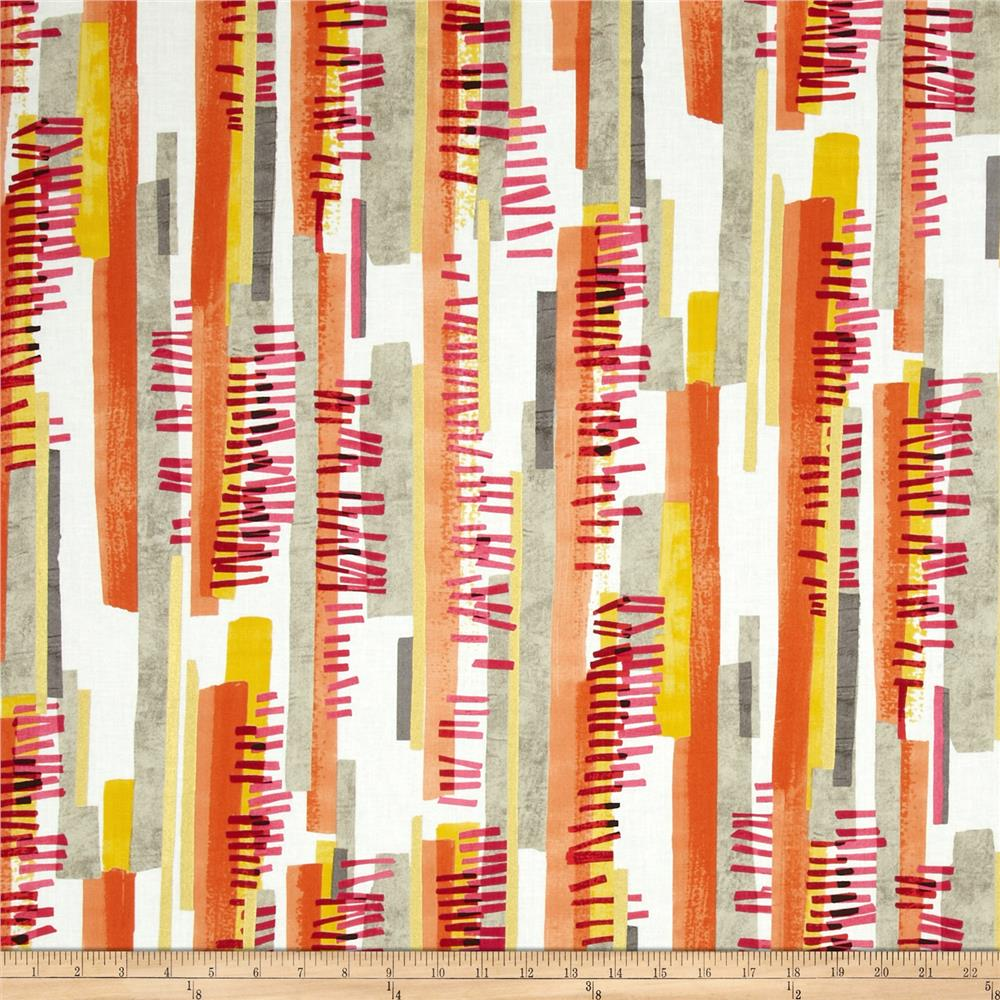 Contempo Precious Metals Stripe Pink/Orange