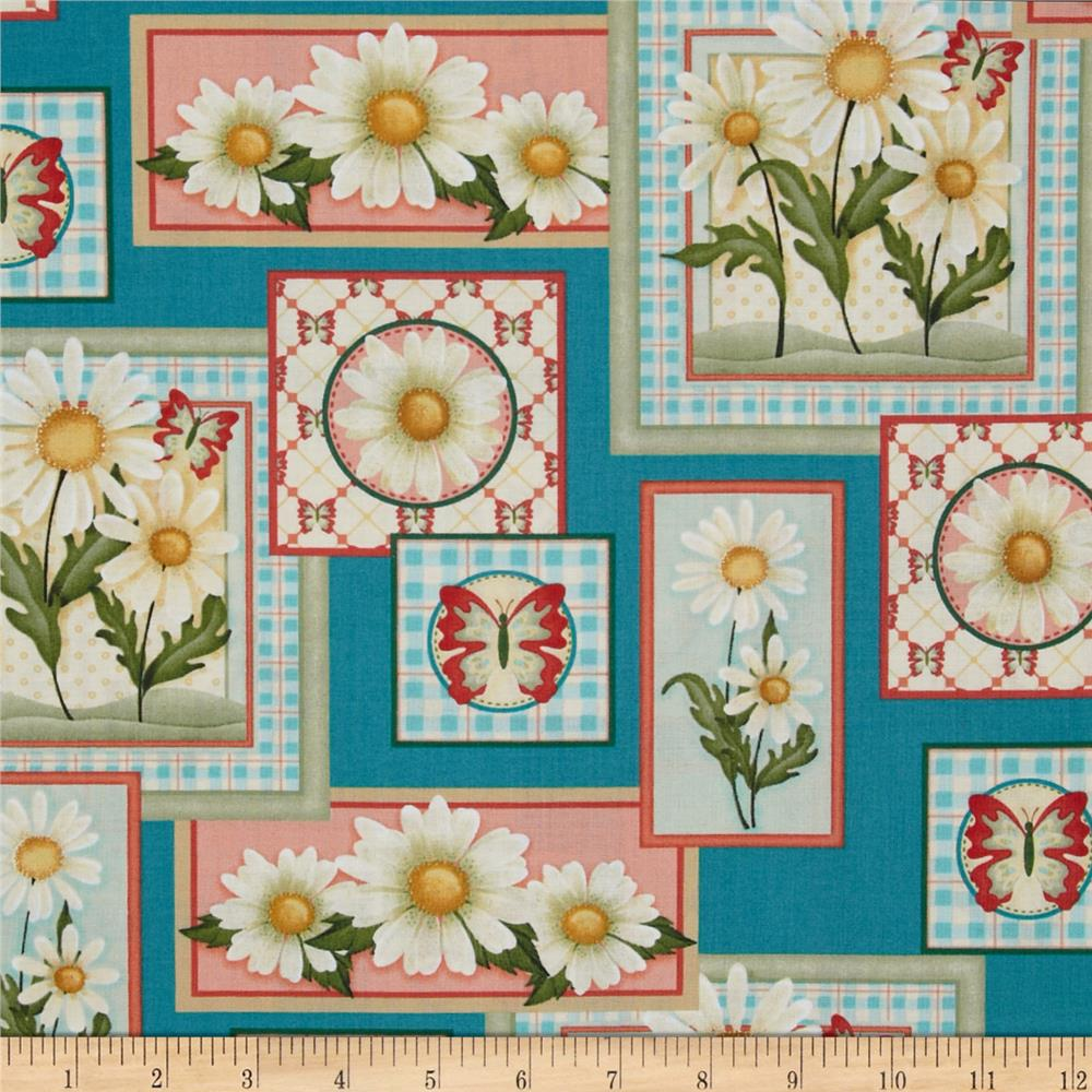 Daisy Garden Daisy Patches Teal