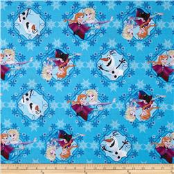 Disney Frozen Sisters Ice Skating Framed Blue