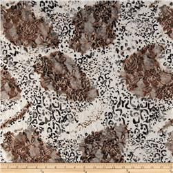 Stretch Safari Lace Cheetah White/Taupe
