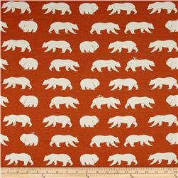 Birch Organic Bear Camp Interlock Knit Bear Hike Orange
