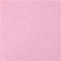 Basic Cotton Baby Rib Knit Solid Cool Pink