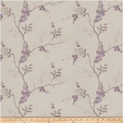 Fabricut  Linen Embroidered Brookdale Lilac