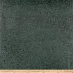 Fabricut Pewter Faux Leather Emerald