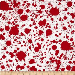 Classic Horror Flims Blood Splatter Red/White