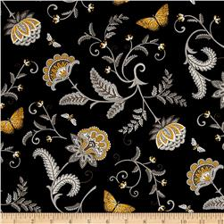 Moda Bee Inspired Nature's Floral Ebony
