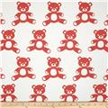 Premier Prints Teddy Twill White/Coral