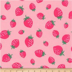 Kaufman Sevenberry Mini Prints Strawberrys Pink