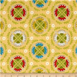 Riley Blake Dutch Treat Wreath Yellow