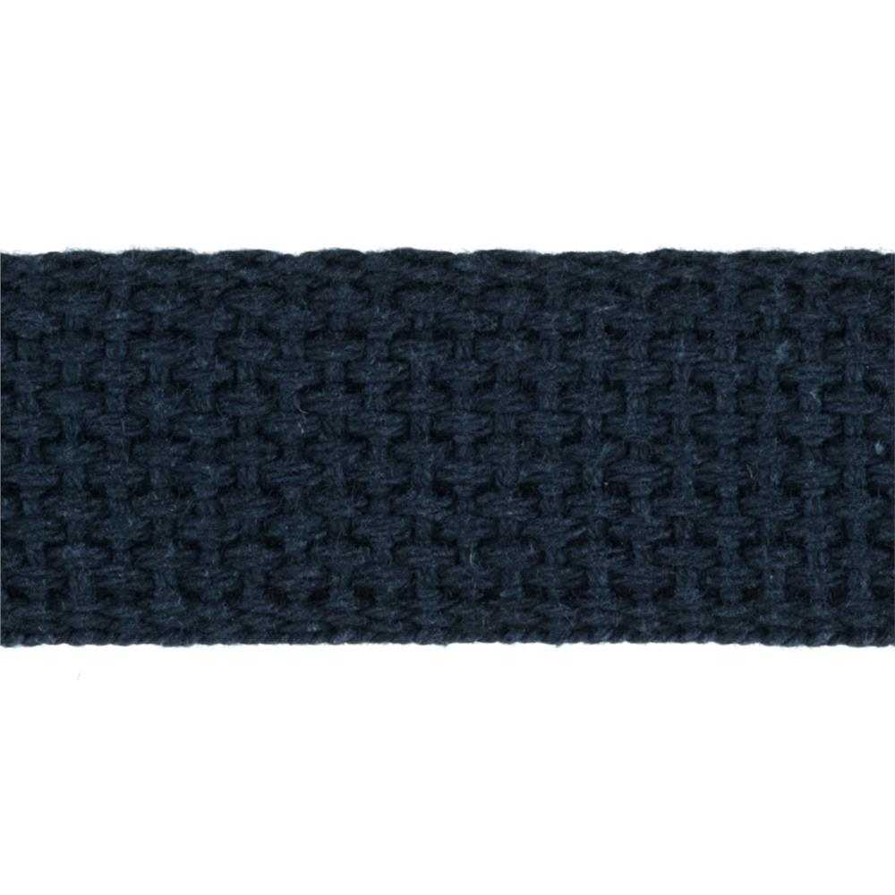 1'' Cotton Webbing Navy