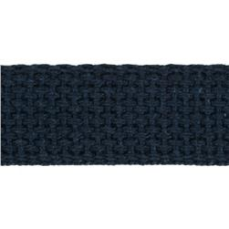 1'' Cotton Webbing Navy Fabric