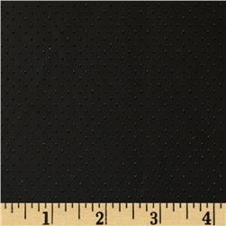 Siera Cutout Faux Leather Pindot Black Fabric