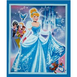 "Disney Princess Movie Cinderella Panel-36"" Blue"