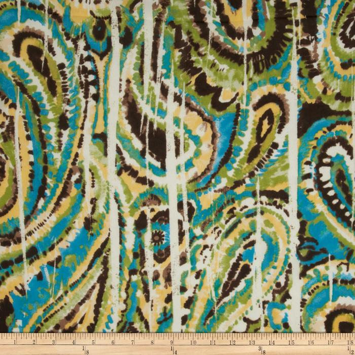 Designer Chiffon Abstract Brown/Green