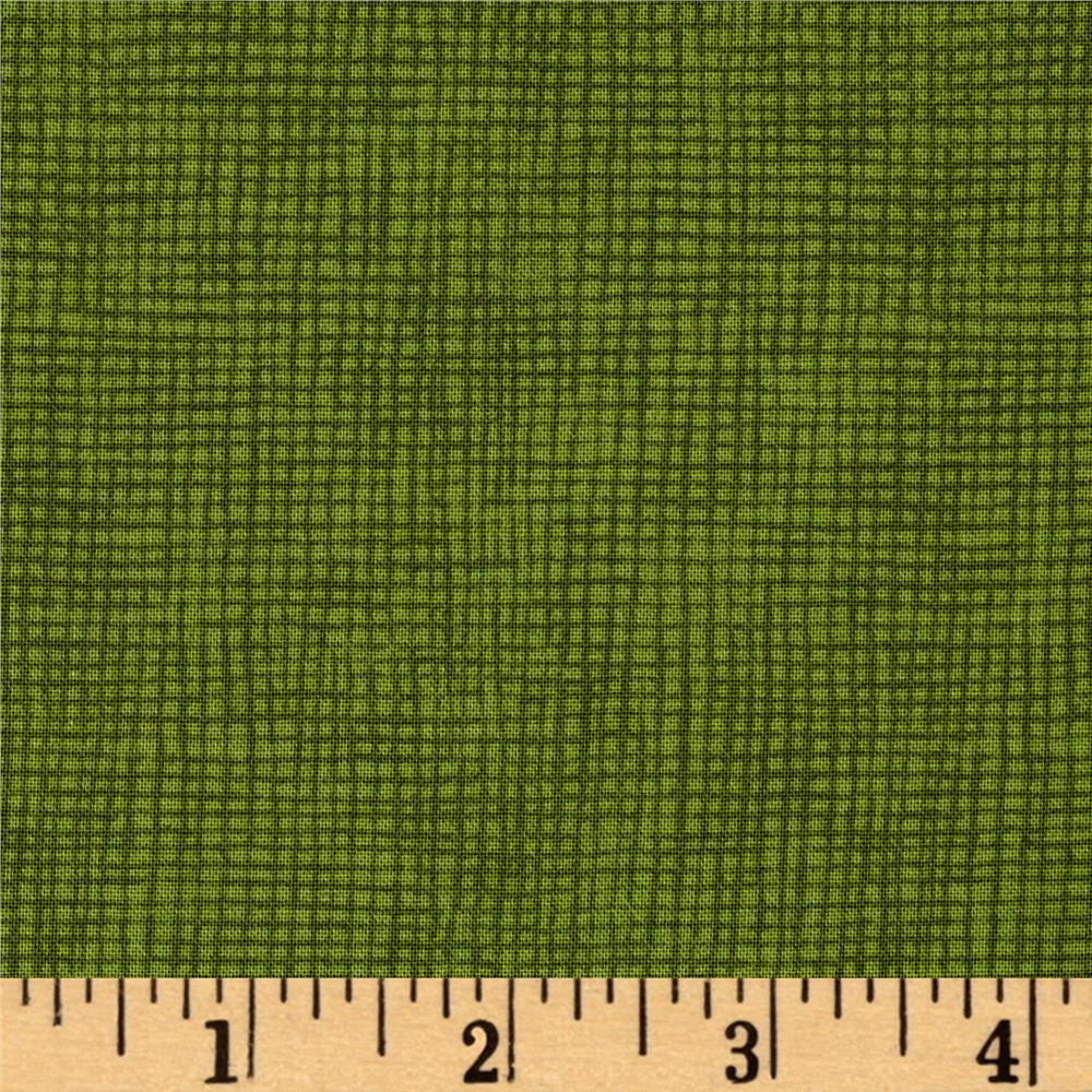 Moda Welcome Fall Burlap Weave Moss Green