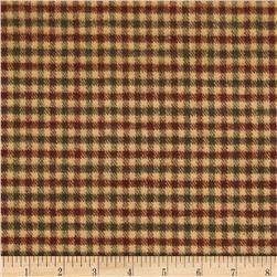 Primo Plaids Flannel Yarn-Dyed Check Green/Burgundy