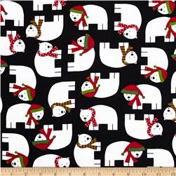 Robert Kaufman Jingle Polar Bears Black