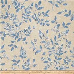 Fabricut 50024w Floreale Wallpaper Indigo 05 (Double Roll)
