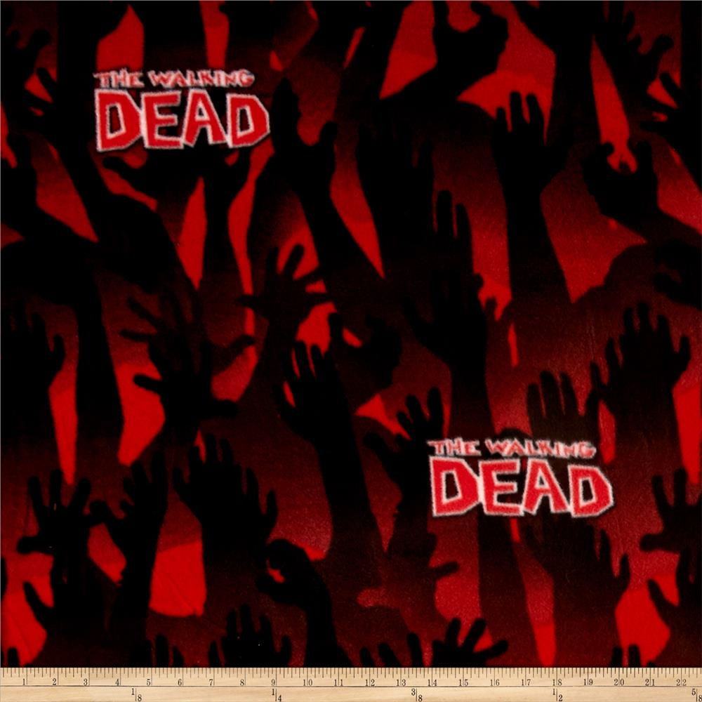 The Walking Dead Fleece Zombie Arms Red
