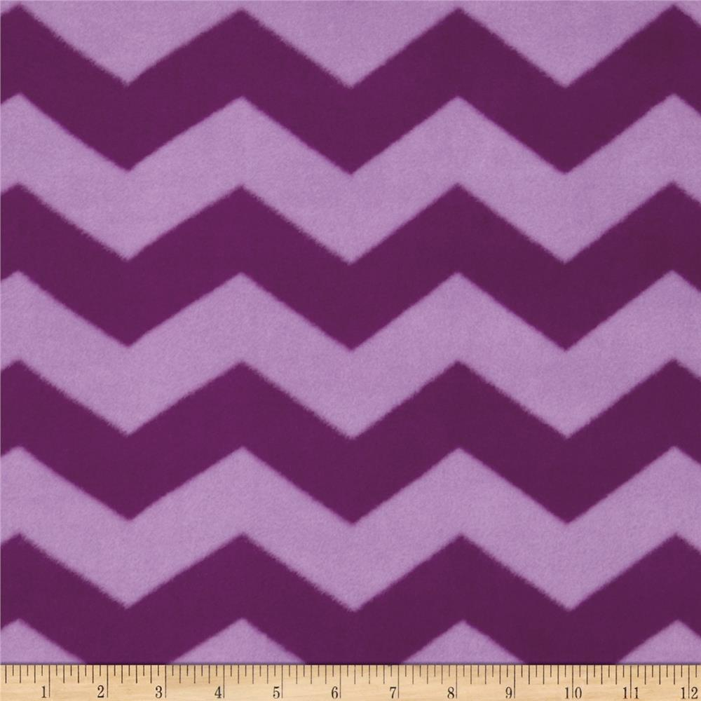 Chevron Fleece Tonal Purple