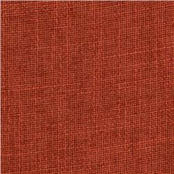 Ramtex Zuma Slubbed Linen Blend Atomic Orange Fabric