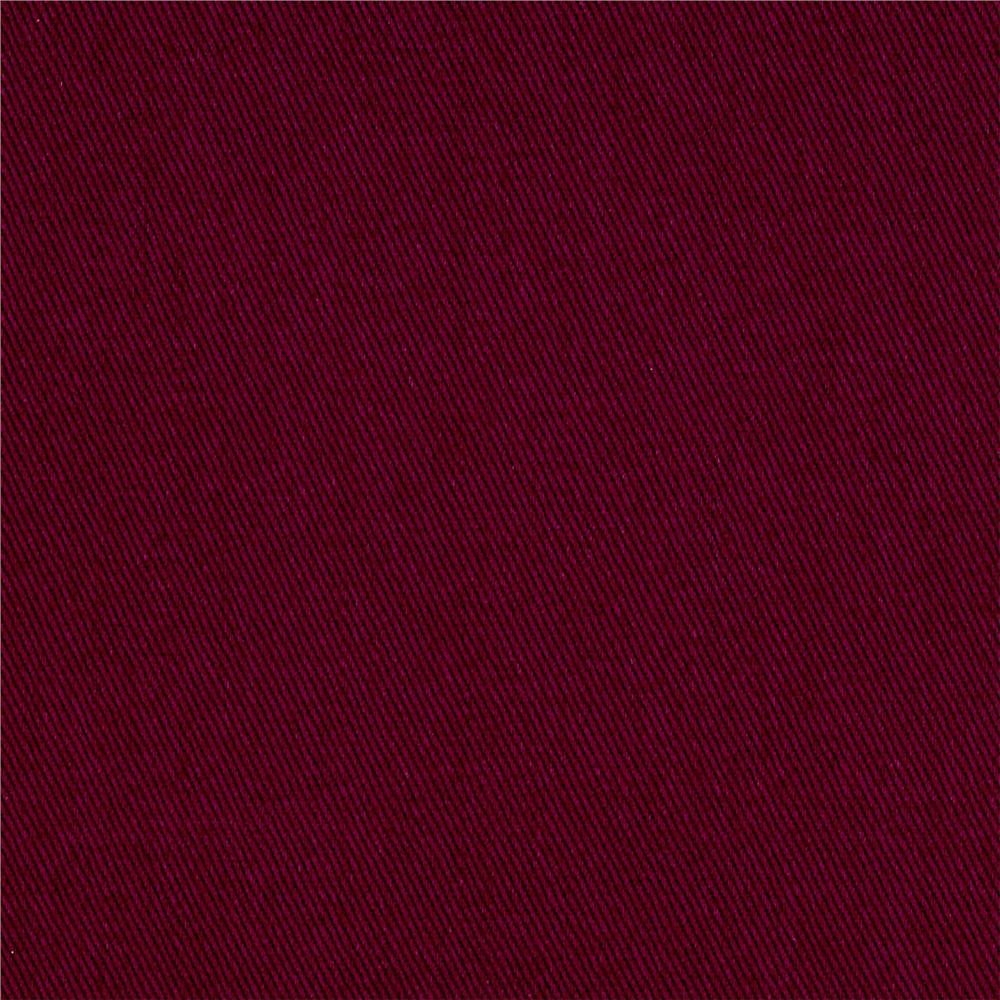 Cotton Twill Burgundy