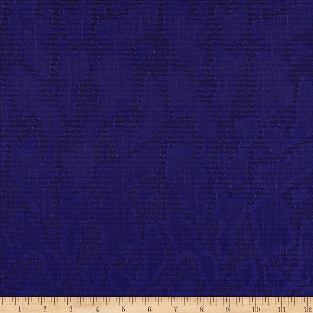 Harlow Jacquard Shirting Royal Blue