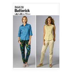 Butterick Misses' Pants Pattern B6028 Size B50