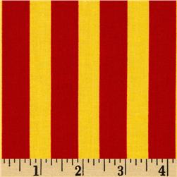 Ace Rugby Stripe Red/Yellow Fabric