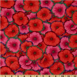 Kaffe Fassett Collective 2012 Picotte Poppies Red