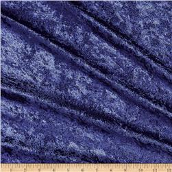 Stretch Panne Velvet Velour Dark Navy Fabric