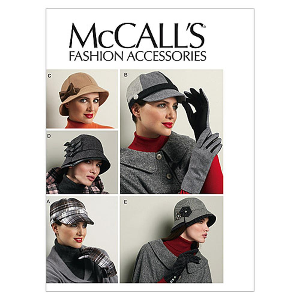 McCall's Hats and Gloves Pattern M6450 Size OSZ