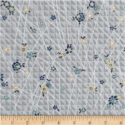 Narumi Metallic Mini Floral Silver/Silver Fabric