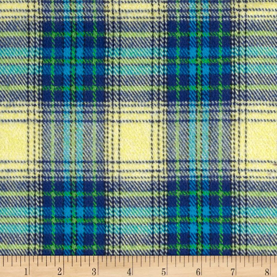 6 oz. Flannel Plaid Yellow/Blue