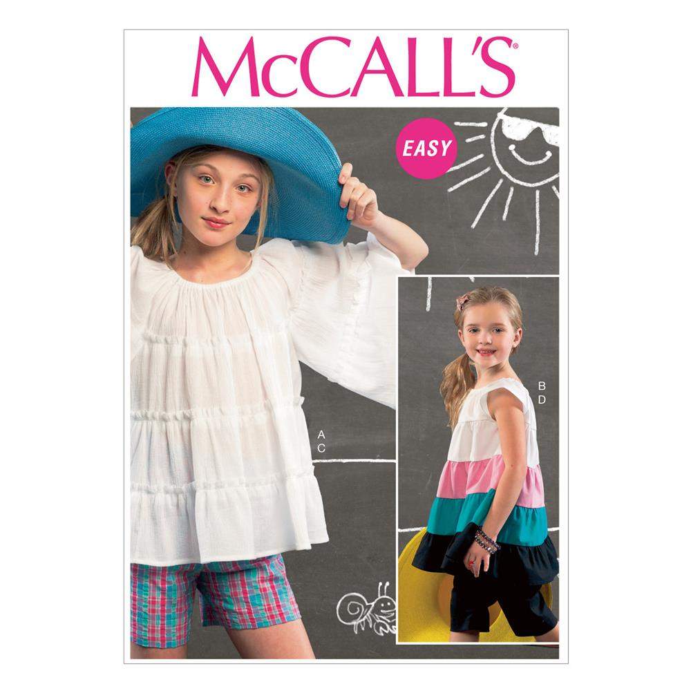 McCall's Children's/Girls' Top, Tunic, Shorts and Pants Pattern
