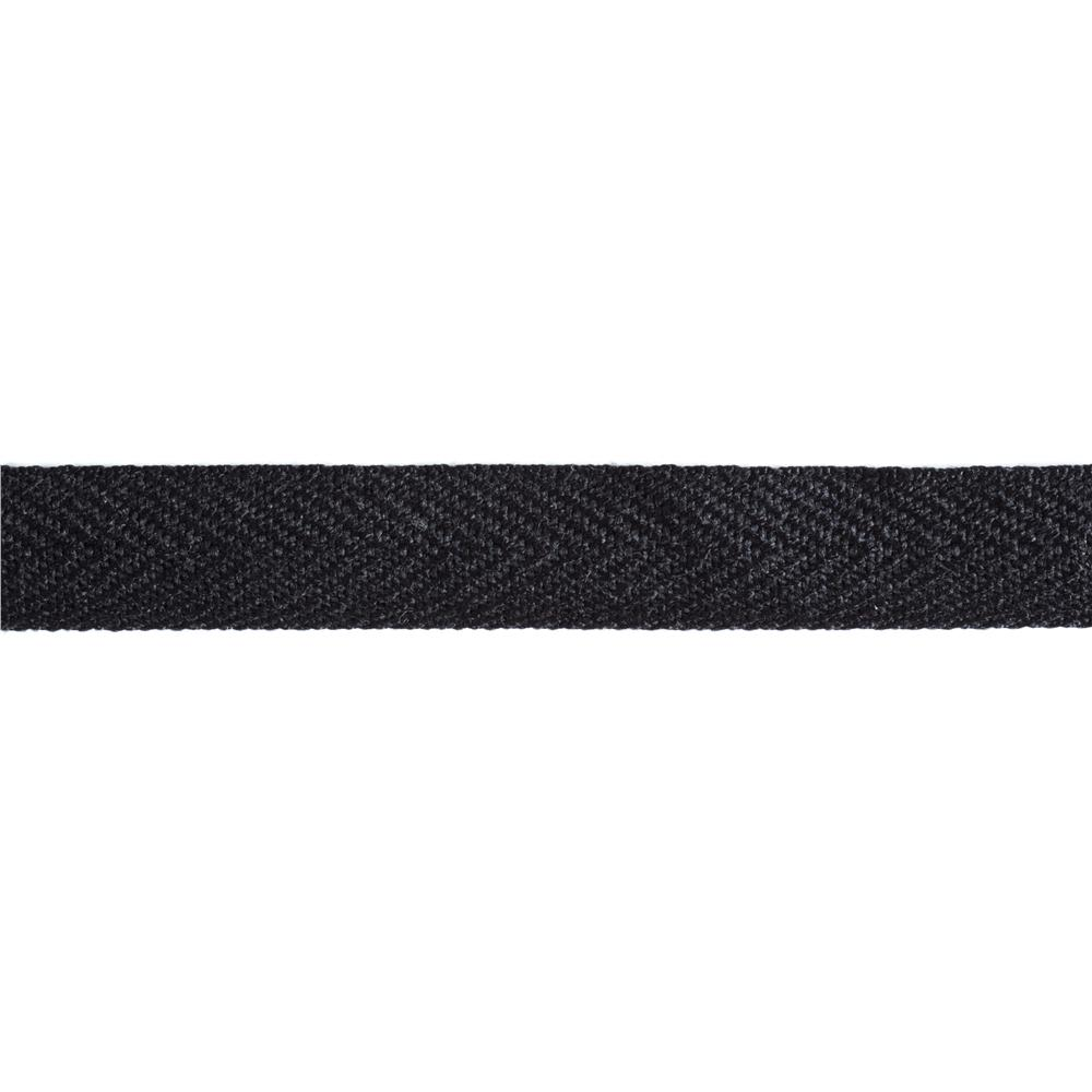 3/4'' Poly Twill Tape Ribbon Black