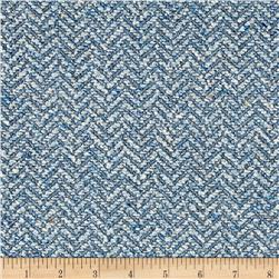Clarence House Maxwell Tweed Pale Blue