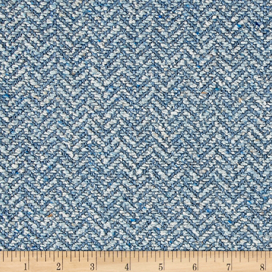 Clarence House Maxwell Tweed Pale Blue Fabric