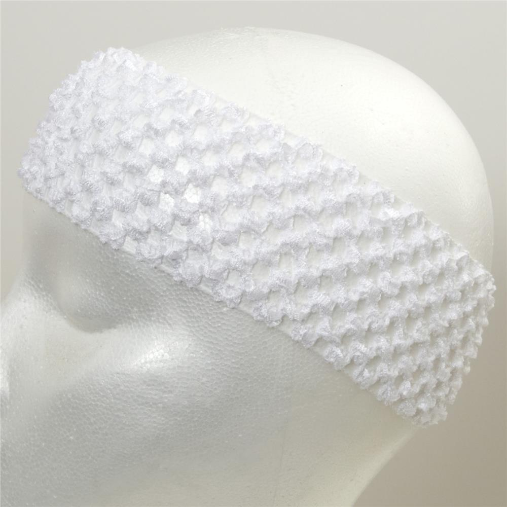 "2 3/4"" Crochet Headband White"