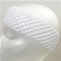 2 3/4'' Crochet Headband White