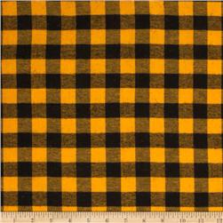 Yarn Dyed Flannel Plaid Yellow/Black