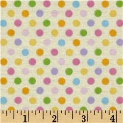Alpine Spring Garden Flannel Sweet Spots Yellow