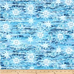 Timeless Treasures Judy Niemeyer Seasonal Portraits Water Blue