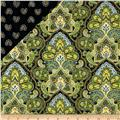 Morristown Double Faced Quilted Floral Green